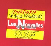 1 Autocollant LES NOUVELLES VAL DE MARNE IVRY - Autocollants