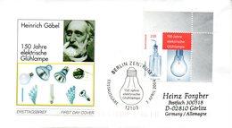 """BRD Schmuck-FDC  """"150 Jahre Elektrische Glühlampe"""", Mi. 2395 ESSt 7.4.2004 BERLIN - BRD"""