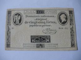ASSIGNAT 25 LIVRES EFFIGIE ROYALE 16/12/1792 LAFAURIE 147 - Assignats