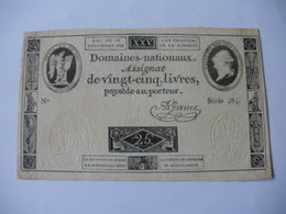 ASSIGNAT 25 LIVRES EFFIGIE ROYALE 16/12/1792 LAFAURIE 147 - Assignats & Mandats Territoriaux