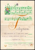 POLAND 1960 TELEGRAM SPECIAL OCCASION LIVE 100 YEARS STO LAT MUSIC NOTES WORDS TÉLÉGRAMME TELEGRAMM TELEGRAMA TELEGRAMMA - Storia Postale