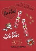 DOLCE&GABBANA** Planche De Stickers St VALENTIN  2019 - Perfume Cards