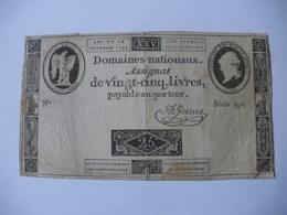 ASSIGNAT 25 LIVRES EFFIGIE ROYALE 24/10/1792 LAFAURIE 162 - Assignats