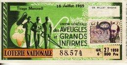 France - 285 - Union Générale Des Aveugles Et Des Grands Infirmes - 27 ème Tranche 1959 - Loterijbiljetten