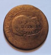 NAPOLEON III. 10 CENTIMES CONTREMARQUE SERRURE GOUTTMAN. PUBLICITE. - France