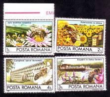 Romaina 1987, Bees Abeilles,mint Full Set,MNH. - 1948-.... Republics