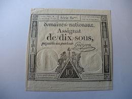 ASSIGNAT 10 SOUS 04/01/1792 LAFAURIE 148 - Assignats & Mandats Territoriaux