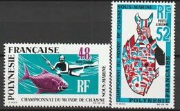 POLYNESIE - Poste Aérienne - PA N° 29/30 ** (1969) - Poste Aérienne