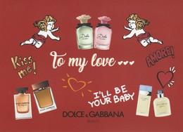 DOLCE&GABBANA** Carte St VALENTIN  2019 - Perfume Cards