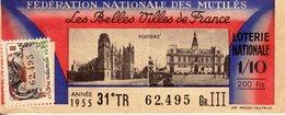 France - 286 - Fédération Nationale Des Mutilés - Les Belles Villes De France - 31 ème Tranche 1955 - Loterijbiljetten