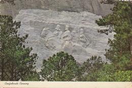 CPA ETATS UNIS Confederate Carving Mémorial Atlanta - Atlanta