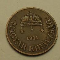 1931 - Hongrie - Hungary - 1 FILLER, BP, KM 505 - Hongrie