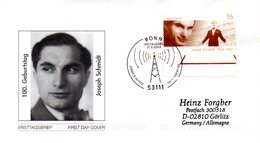 "BRD Schmuck-FDC  ""100. Geburtstag Joseph Schmidt"", Mi. 2390 ESSt 11.3.2004 BONN - BRD"