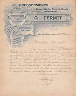 54 VILLA LA TAILLE Par VANNES LE CHATEL COURRIER 1907 Cressonnières à URUFFE Cressiculteur FERNET X31 Meurthe Et Moselle - France