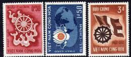 Vietnam Du Sud N° 256 / 58 X Boudhisme La Série Des 3 Valeur Trace De Charnière Sinon TB - Viêt-Nam