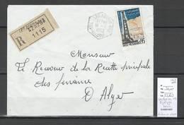 Algerie - Lettre Recommandée - Cachet Hexagonal - Les AGRIBS SAS - Utilisé En 1963-  Marcophilie - Algérie (1924-1962)