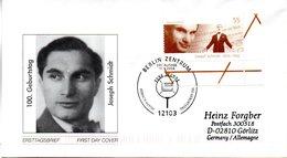 """BRD Schmuck-FDC  """"100. Geburtstag Joseph Schmidt"""", Mi. 2390 ESSt 11.3.2004 BERLIN - BRD"""