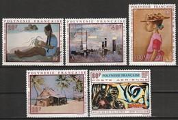 POLYNESIE - Poste Aérienne - PA N° 40/44 ** (1970) Tableaux - Poste Aérienne