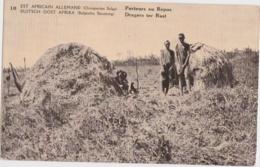 Cpa Congo Belge - Est Africain Allemand - Porteurs Au Repos - Congo Belge - Autres