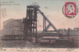 Cpa Afrique Du Sud - South Africa - Robinson's Mine - Headgear ( Postée De Johannesburg En 1905) - Zuid-Afrika