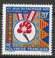 POLYNESIE - Poste Aérienne - PA N° 45 ** (1971) - Poste Aérienne