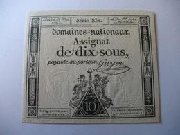 ASSIGNAT 10 SOUS 23/05/1793 LAFAURIE 165 - Assignats & Mandats Territoriaux