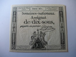 ASSIGNAT 10 SOUS 23/05/1793 LAFAURIE 165 - Assignats