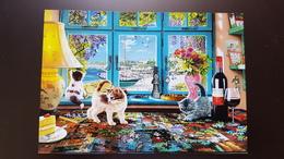 """""""Kitten"""" By Steve Read  - ECHECS - CHESS - ECHECS - Modern Ukrainian Postcard - Cat - Echecs"""