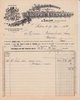 13 SALON DE PROVENCE FACTURE 1924 Huilerie Savonnerie  Huiles & Savons Adolphe ESCARRAT  X13Bouches Du Rhône - France