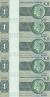 BRESIL 1 CRUZEIRO ND 1972-80 UNC P 191A C ( 5 Billets ) - Brasil