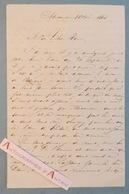 L.A.S 1863 écrite D' ALEXANDRIE - Signataire à Identifier (Achille....?) - Lettre Autographe LAS Egypte - Autographes