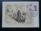 Carte Maximum Card Don Quichotte Don Quijote Cheval Horse Cervantes Europa 1983 Espagne Spain Ref 70993 - Ecrivains