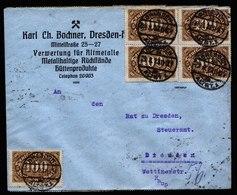A5902) DR Infla Ortsbrief Dresden 29.08.23 Portogerecht Gepr. Infla Berlin - Allemagne