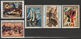 POLYNESIE - Poste Aérienne - PA N° 65/69 ** (1972) Tableaux - Poste Aérienne