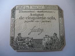ASSIGNAT 50 SOLS 04/01/1792 LAFAURIE 151 - Assignats & Mandats Territoriaux