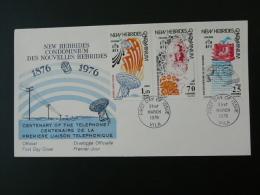 FDC Nouvelles Hebrides New Hebrides 1976 Telephone Graham Bell Ref 50660 - Légende Anglaise