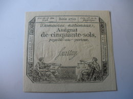 ASSIGNAT 50 SOLS 23/05/1793 LAFAURIE 167 - Assignats