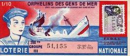 France - 292 - Orphelins Des Gens De Mer - 38 ème Tranche 1959 - Loterijbiljetten