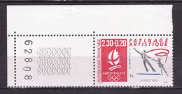 """N° 2633 """" Alberville 92 """" Patinage Artistique: Un Timbre Neuf Impeccable Sans Charnière - France"""