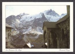 99103/ LA GRAVE, Les Terrasses, Porche De L'église Du Hameau Devant La Face Nord De La Meije, Photo B. Boyer - Frankrijk