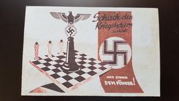 """War Chess"" By Nazi Propaganda - ECHECS - CHESS - ECHECS - Repro Postcard - Echecs"