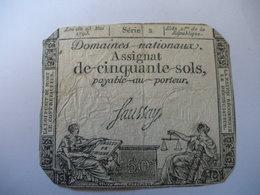 ASSIGNAT 50 SOLS 23/05/1793 LAFAURIE 167A - Assignats