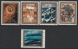 POLYNESIE - Poste Aérienne - PA N° 77/81 ** (1973) Tableaux - Poste Aérienne