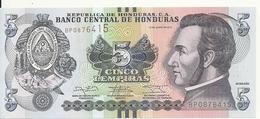 HONDURAS 5 LEMPIRAS 2014 UNC P 98 B - Honduras