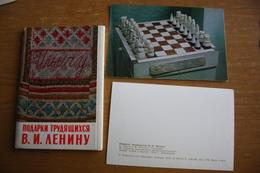 "JEU - ECHECS - CHESS - ECHECS - ""Lenin Gifts"" 12 Postcards Lot. OLD USSR PC 1970s - Echecs"