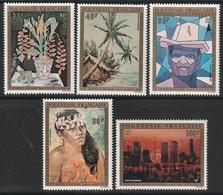 POLYNESIE - Poste Aérienne - PA N° 84/88 ** (1974) Tableaux - Poste Aérienne