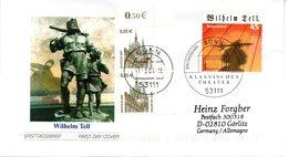 """BRD Schmuck-FDC  """"200. Jahrestag Der Uraufführung Von """"Wilhelm Tell"""", Mi. 2391 Aus Block 65 ZF ESSt 11.3.2004 BONN - BRD"""