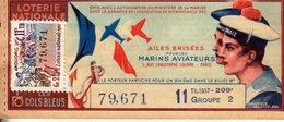 France - 295 - Ailes Brisées Pour Les Marins Aviateurs - 11 ème Tranche 1957 - Loterijbiljetten