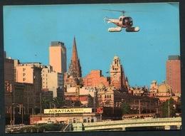 AUSTRALIA - MELBOURNE -  Heliport , City Skyline  Ed. MURFETT. - ALSATIAN  PAINTS - Tramway.helicoptère - Melbourne