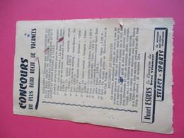 Buvard/Vêtements/Henri ESDERS /Select-Sport/Le Champion Du Beau Vêtement/Concours Scolaire/ TULLE/Vers 1920-1940 BUV374 - Textile & Clothing